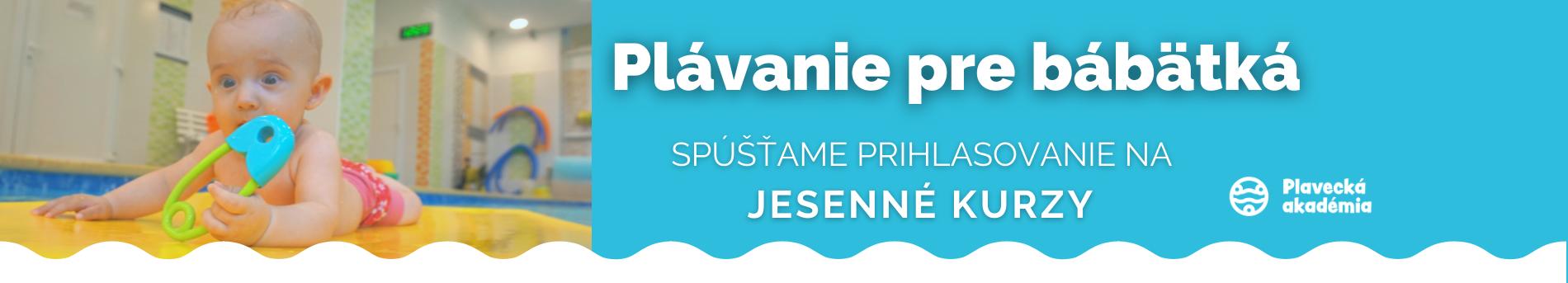 Jesenné plávanie pre BÁBATKÁ_ SEPT-OKT 2021