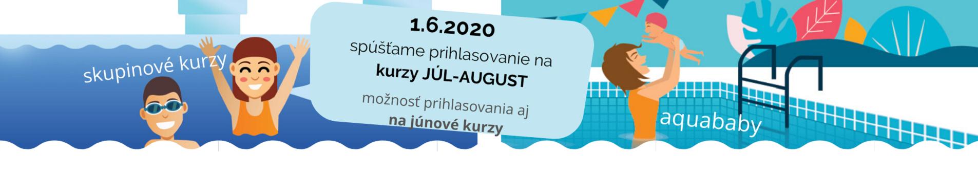Prihlasovanie na kurzy jún-august